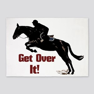 Get Over It! Horse Jumper 5'x7'Area Rug
