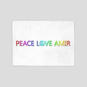 Peace Love Amir 5'x7' Area Rug