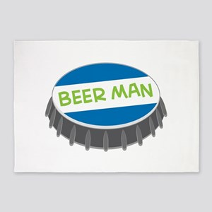 Beer Man 5'x7'Area Rug