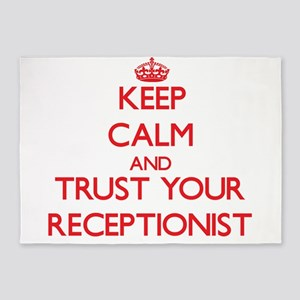 Keep Calm and trust your Receptionist 5'x7'Area Ru
