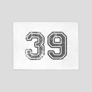 39-Col gray 5'x7'Area Rug