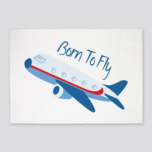 Born TO Fly 5'x7'Area Rug