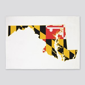 Maryland Flag 5'x7'Area Rug