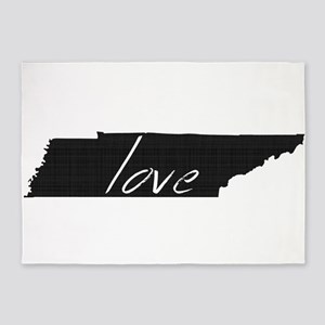 Love Tennessee 5'x7'Area Rug