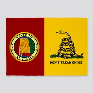 Alabama Gadsden Flag 5'x7'Area Rug