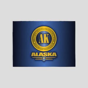 Alaska Gold Initials 5'x7'Area Rug