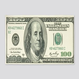 One Hundred Dollar Bill 5'x7'Area Rug