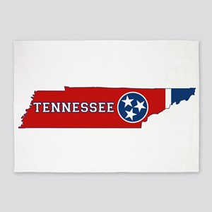 Tennessee Flag 5'x7'Area Rug