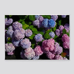 purple, blue, and pink hydrangeas rectangle 5'x7'A