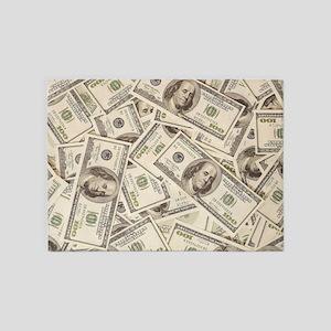 Dollar Bills 5'x7'Area Rug