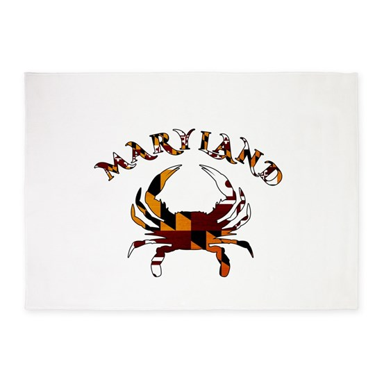 Maryland Flag Crab 5 X7 Area Rug By