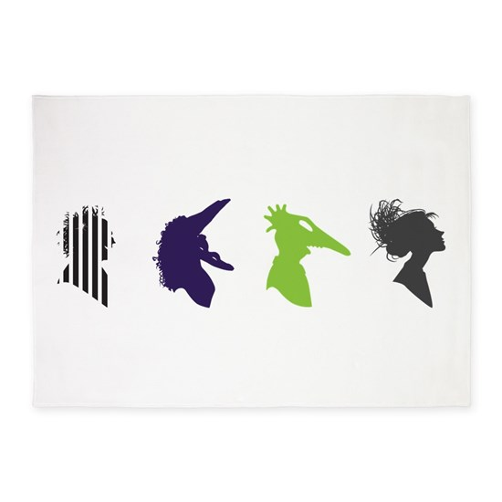 Beetlejuice Silhouettes 5 X7 Area Rug By Coyotika Cafepress