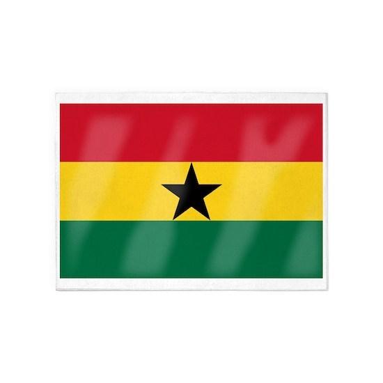 Ghana Flag 5 X7 Area Rug By Homestead Cafepress