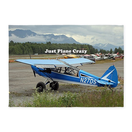Just Plane Crazy High Wing Aircraf 5 X7 Area Rug By Franwest1 Cafepress