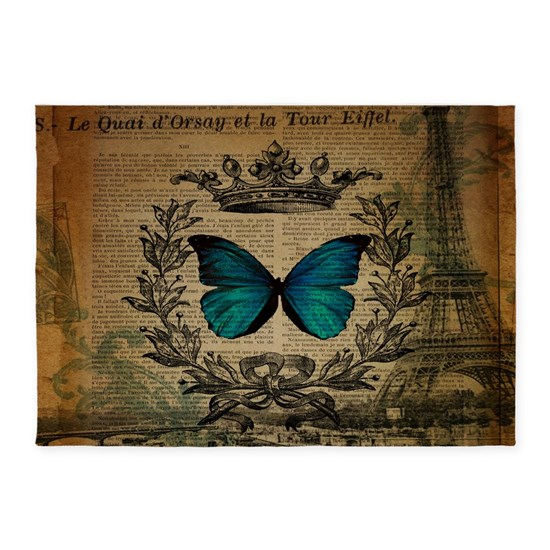 vintage paris eiffel tower butterfly jubilee