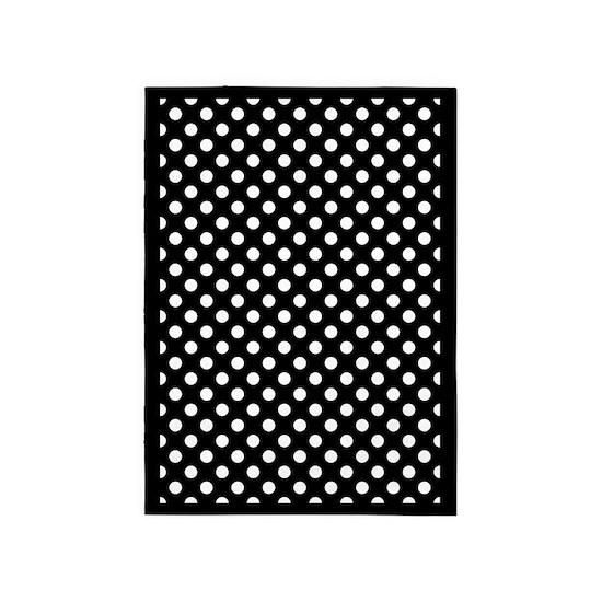 White Polka Dots 5 X7 Area Rug