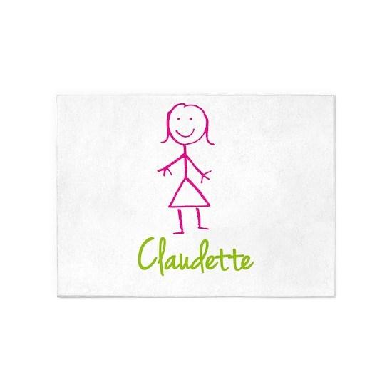 Claudette-cute-stick-girl 5'x7'Area Rug