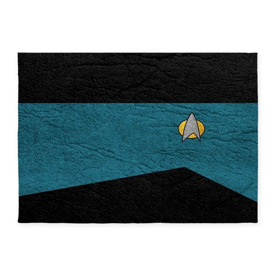 SF 2360 LEATHER TEAL 5'x7'Area Rug By Screen Addicts