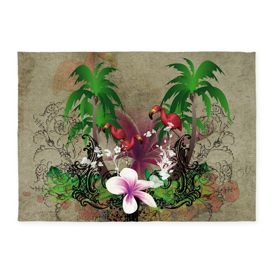 Tropical design with palm