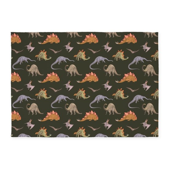 DINOSAURS 5'x7'Area Rug By Thomandthali