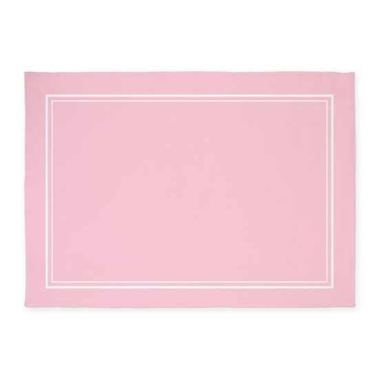 Blush Pink 5'x7'area Rug By Heartlocked