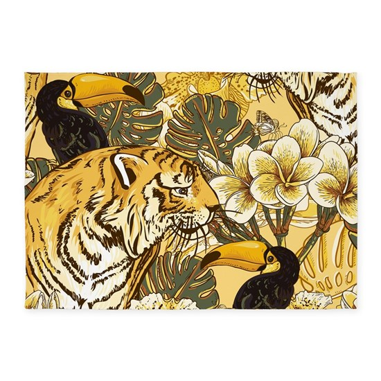 Tiger & Toucan 5'x7'Area Rug By Daecu