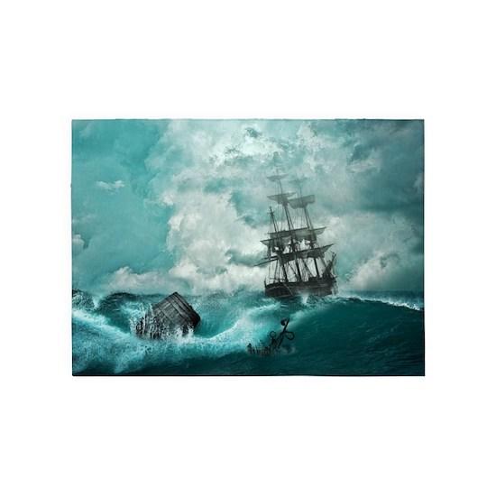 Storm Sea Ship Shipwreck Ocean Blue