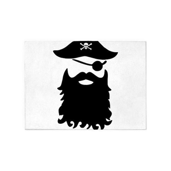 Black Beard Pirate Skull Captain Women_s V Neck Pi