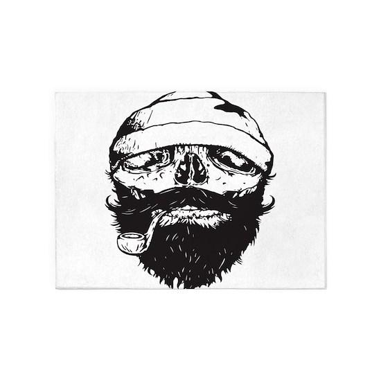 Sailor Beard Skull Vest Pirate Tank Gym Top Single