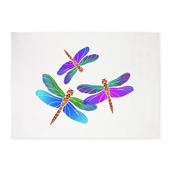 Dive Bombing Iridescent Dragonflies