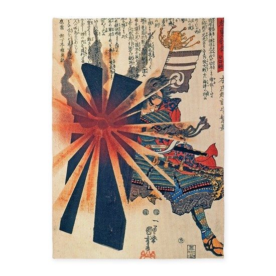 Cool Japanese Samurai Warrior Blistering Sun Art