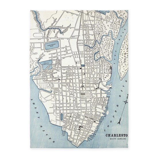 Vintage Map of Charleston South Carolina (1898)