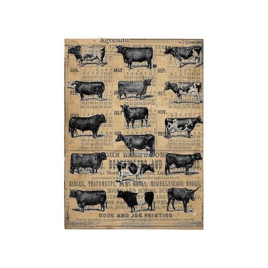 Cows on Vintage Almanac