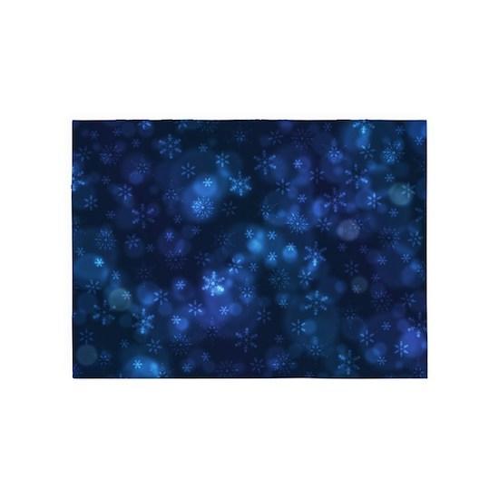 Blue Snowflakes Winter Christmas Pattern