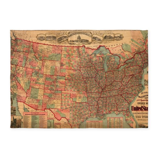 Vintage United States Map (1883)