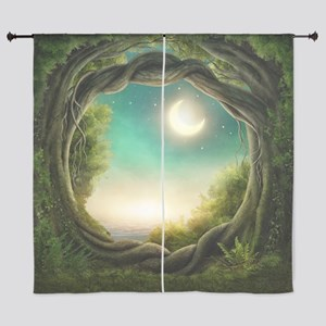 "Magic Moon Tree 60"" Curtains"