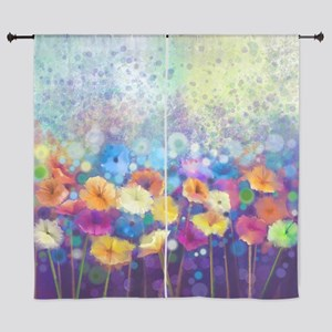 """Floral Painting 60"""" Curtains"""