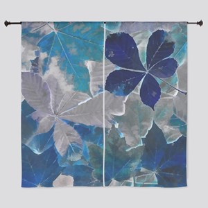 """Fallen Leaves Abstract 60"""" Curtains"""