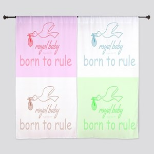 "Royal Baby Rules Pink 60"" Curtains"