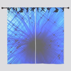Karate Blue Curtains