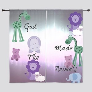 purple Animals 2 Curtains
