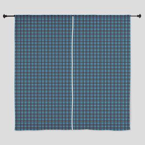 "Hoots Toots Haggis Blue Tartan 60"" Curtains"