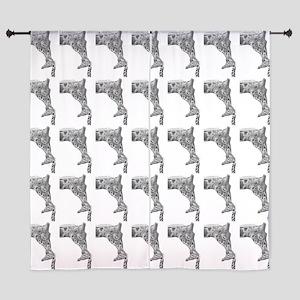 """Giraffe And Calf 60"""" Curtains"""
