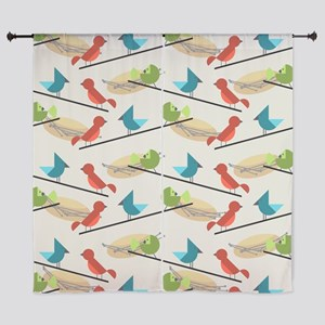 Mid Century Birds Curtains