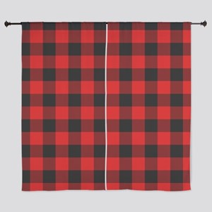 """Red Plaid 60"""" Curtains"""