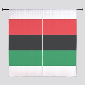 The Red, Black and Green Flag Curtains