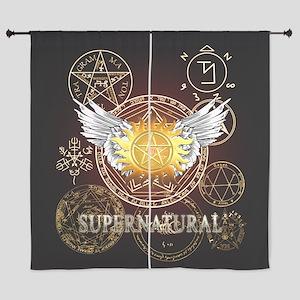 Supernatural Pentagrams Curtains