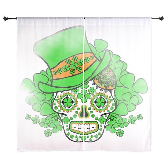 St.Patricks Day Skull Vintage
