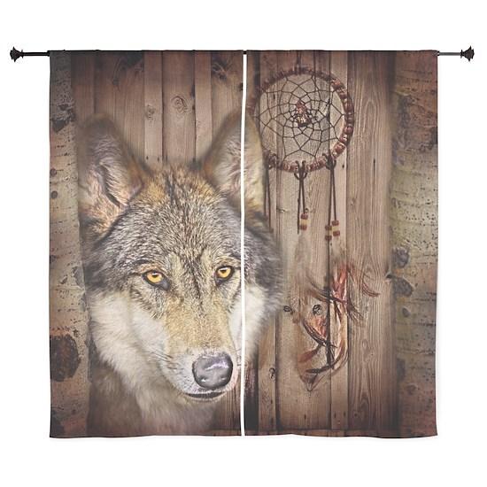 vintage Americana wild wolf