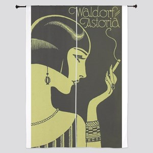 Waldorf Astoria, Flapper, Vintage Poster Curtains